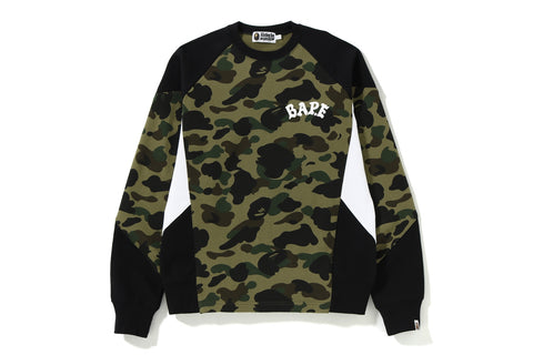 1ST CAMO COLOR BLOCK CREWNECK