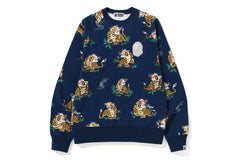 TIGER PATTERN CREWNECK