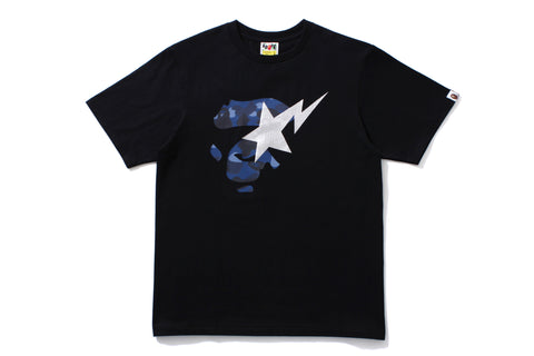 COLOR CAMO APE FACE ON BAPESTA TEE