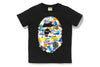 MULTI CAMO BIG APE HEAD TEE