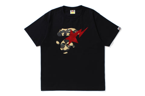 1ST CAMO APE FACE ON BAPESTA TEE