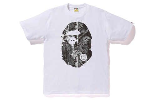 BAPE FOREST CAMO BIG APE HEAD TEE