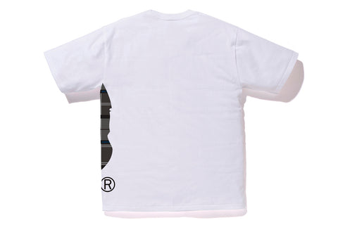 BAPE LOGO CHECK SIDE BIG APE HEAD TEE
