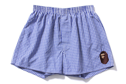 GINGHAM CHECK BOXERS