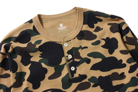 1ST CAMO HENLEY NECK THERMAL LT