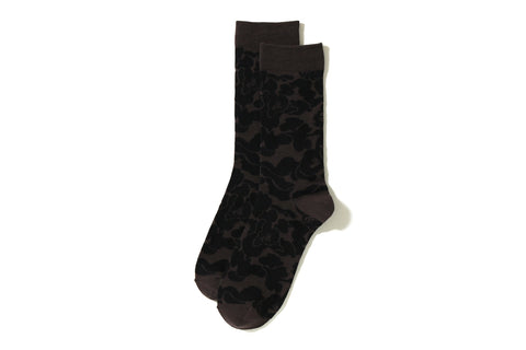 SOLID ABC JACQUARD SOCKS