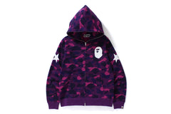 COLOR CAMO FULL ZIP HOODIE