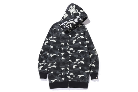 CITY CAMO TIGER LONG LENGTH FULL ZIP HOODIE