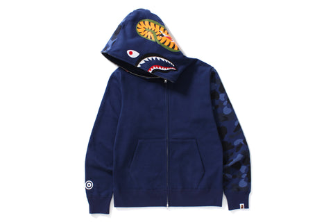 COLOR CAMO SHARK FULL ZIP HOODIE