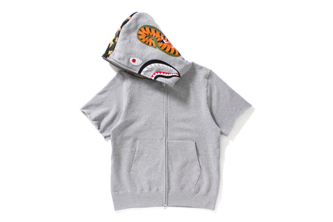 SHARK SHORT SLEEVE FULL ZIP HOODIE