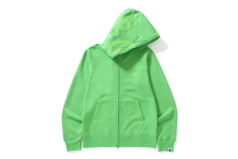 NEON COLOR SHARK FULL ZIP HOODIE