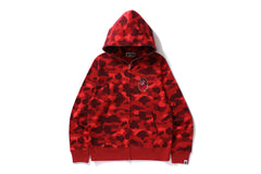 COLOR CAMO SWAROVSKI APE HEAD FULL ZIP HOODIE
