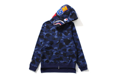 COLOR CAMO SHARK LONG FULL ZIP HOODIE