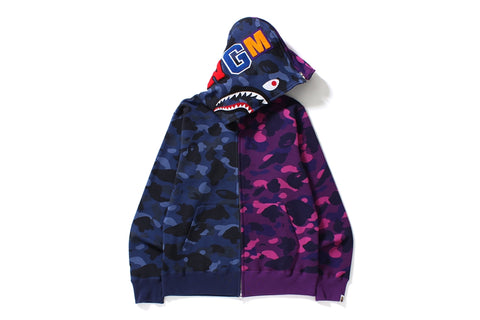 COLOR CAMO 1/2 SHARK FULL ZIP HOODIE