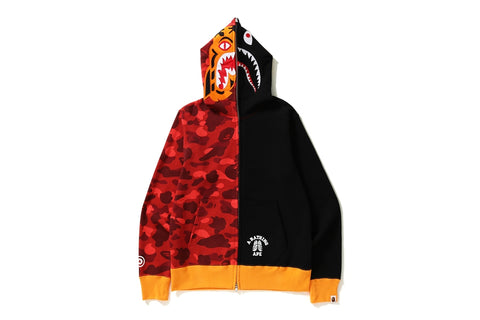 COLOR CAMO TIGER SHARK FULL ZIP HOODIE