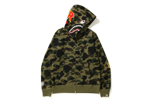 1ST CAMO PATCHED SHARK FULL ZIP HOODIE
