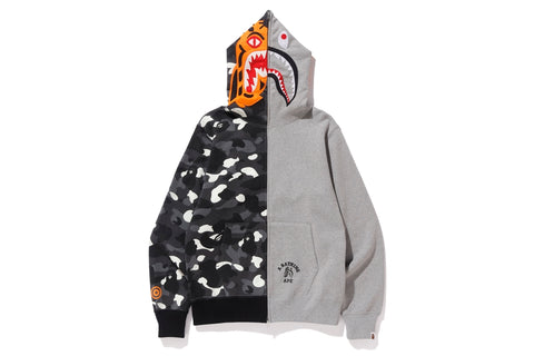 CITY CAMO TIGER SHARK FULL ZIP HOODIE