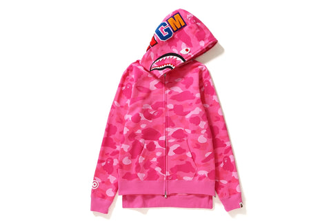 COLOR CAMO SHARK LONG ZIP HOODIE