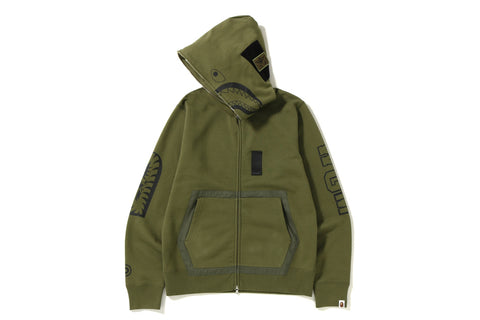 MILITARY SHARK FULL ZIP HOODIE
