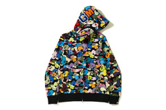 MULTI CAMO SHARK FULL ZIP HOODIE
