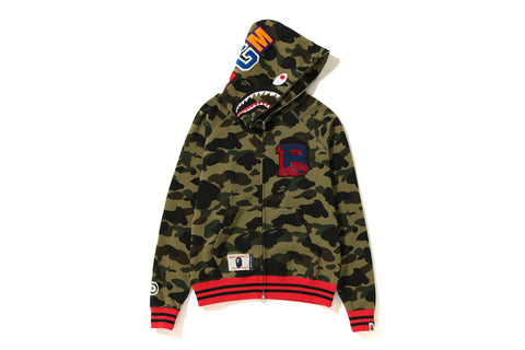 1ST CAMO LETTERED WIDE SHARK HOODIE