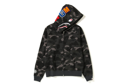 COLOR CAMO SHARK WIDE FULL ZIP HOODIE