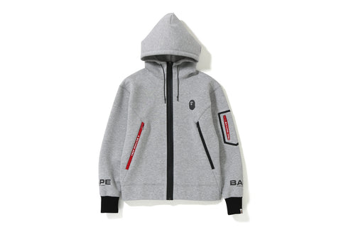 RELAXED DOUBLE KNIT FULL ZIP HOODIE