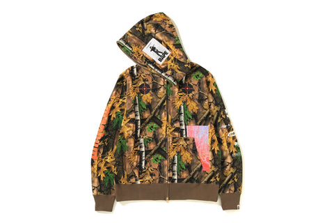 BAPE FOREST CAMO WIDE FULL ZIP HOODIE