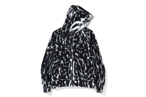 TIE DYE SHARK WIDE FULL ZIP HOODIE