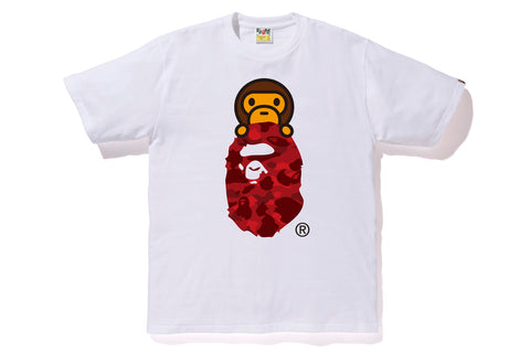 COLOR CAMO MILO ON APE HEAD TEE