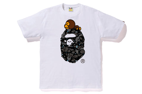 SPACE CAMO MILO ON BIG APE TEE