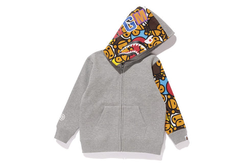 ALL BABY MILO MUL SHARK ZIP HOODIE