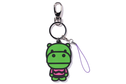 KEY CHAIN 2D HIPPO RUBBER