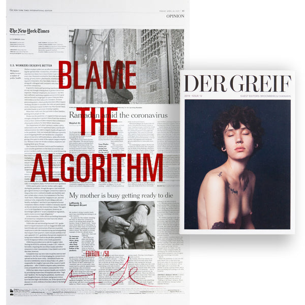 """Blame the Algorithm"" Book + Poster (Limited edition 11 of 50)"