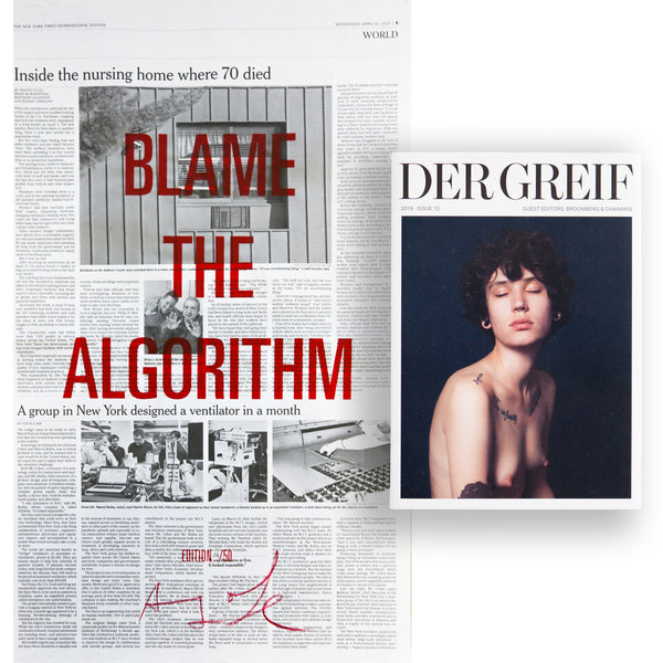 """Blame the Algorithm"" Book + Poster (Limited edition 14 of 50)"