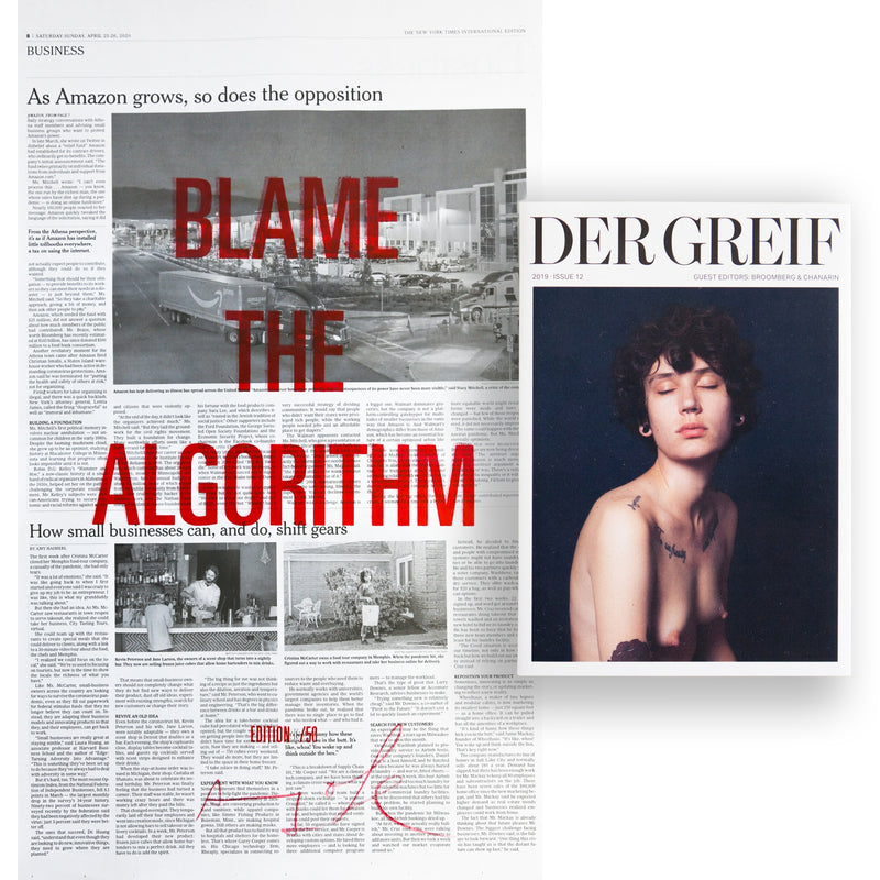 """Blame the Algorithm"" Book + Poster (Limited edition 16 of 50)"