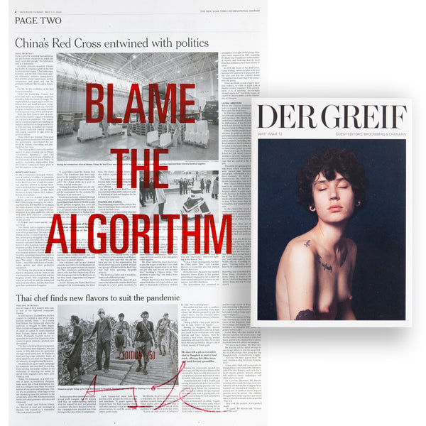 """Blame the Algorithm"" Book + Poster (Limited edition 24 of 50)"