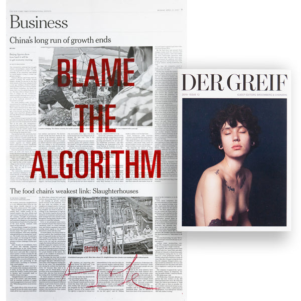 """Blame the Algorithm"" Book + Poster (Limited edition 03 of 50)"