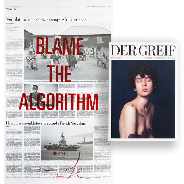 """Blame the Algorithm"" Book + Poster (Limited edition 07 of 50)"