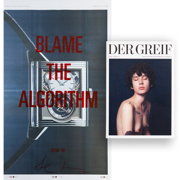 """Blame the Algorithm"" Book + Poster (Limited edition 08 of 50)"