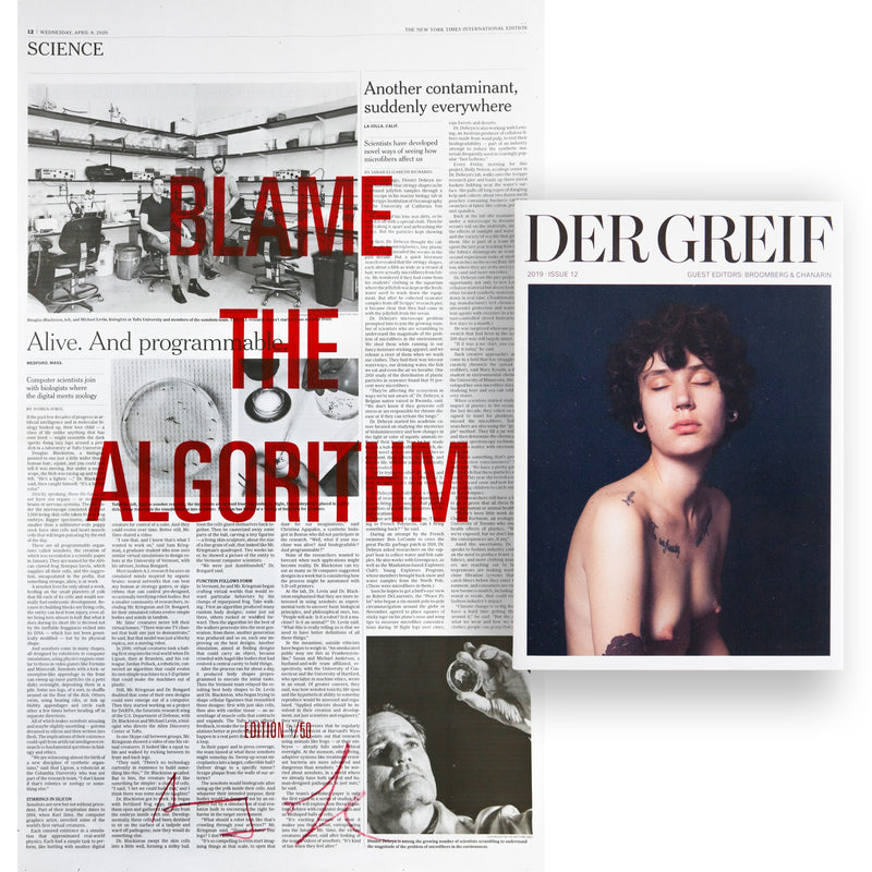 """Blame the Algorithm"" Book + Poster (Limited edition 09 of 50)"