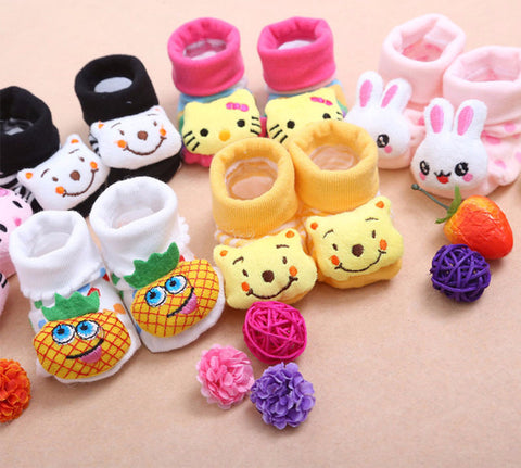 Cute Newborn Animal Cartoon Anti Slip Infant Socks