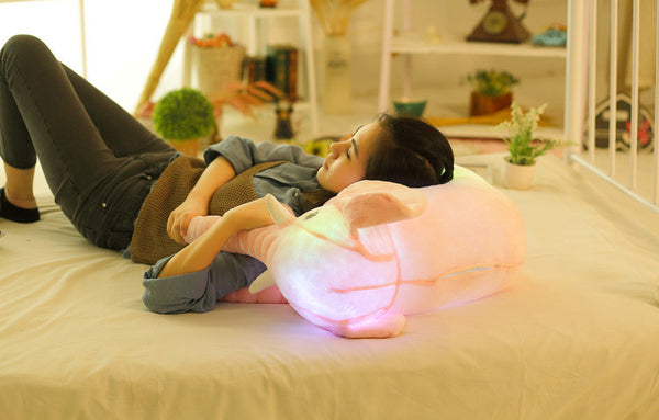 Large Plush Elephant Speaker with LED light - Just Connect Your Smartphone