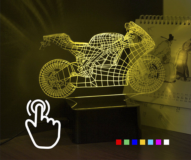 HOT - Cool 3D 7 Color LED Motorcycle Lamp