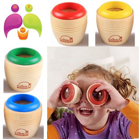 Educational Wooden Magic Kaleidoscope for Children