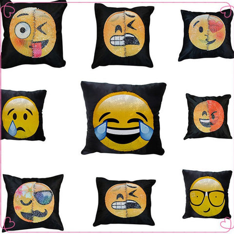 Magic Reversible Emoji Sequin Pillow