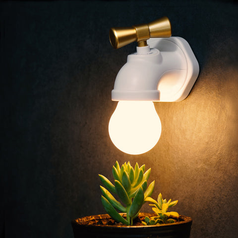 Voice Controlled Faucet-Shaped LED Night Lamp
