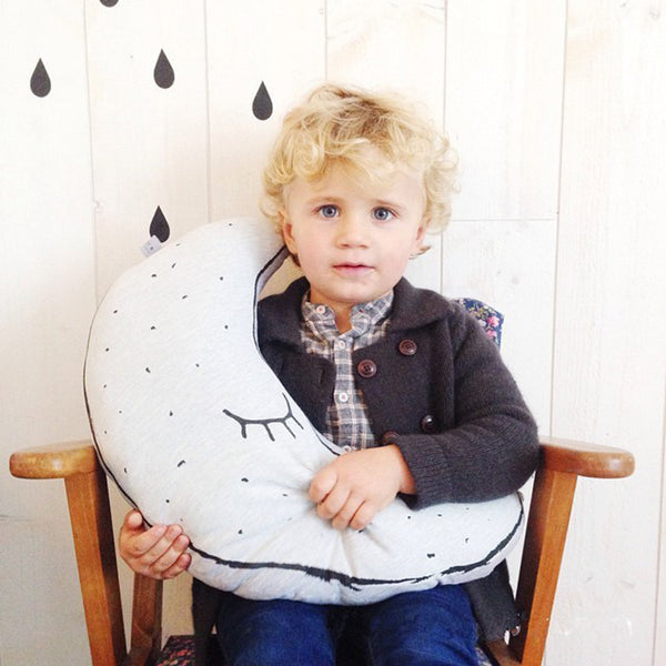 Handmade Glow In The Dark Luminous Moon Decoration Pillow