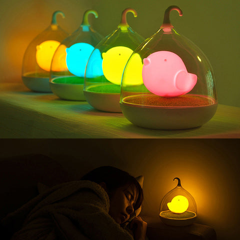 Sound/Touch Sensor Birdcage LED Night Light