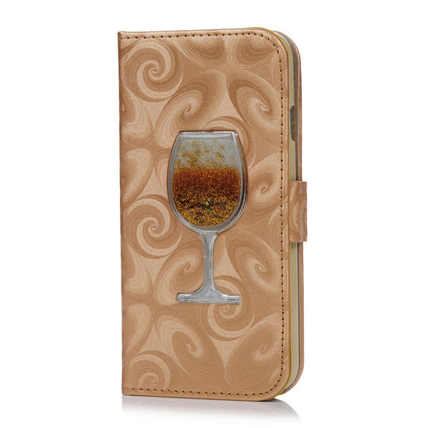 NEW - Liquid Wine iPhone Leather Wallet
